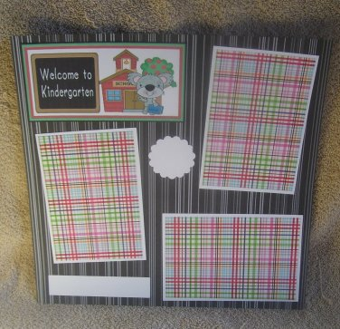 """Welcome To Kindergarten t""-Premade Scrapbook Page 12x12"