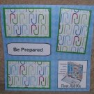 """Be Prepared""-Premade Scrapbook Page 12x12"