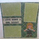 """I Love Being A Girl Scout""-Premade Scrapbook Page 12x12"