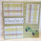 """""""My Pinewood Derby Car""""-Premade Scrapbook Page 12x12"""