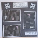 """""""Soccer""""-Premade Scrapbook Page 12x12"""