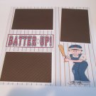 """Batter Up Boy""-Premade Scrapbook Page 12x12"