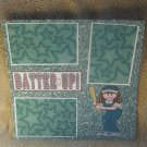 """""""Batter Up Girl""""-Premade Scrapbook Page 12x12"""
