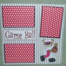 """""""Game Ball 2a""""-Premade Scrapbook Page 12x12"""