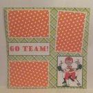 """""""Go Team a""""-Premade Scrapbook Page 12x12"""