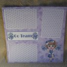 """Go Team Cheerleader 1""-Premade Scrapbook Page 12x12"