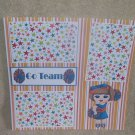 """Go Team Cheerleader 2""-Premade Scrapbook Page 12x12"