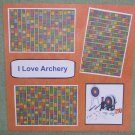 """I Love Archery a""-Premade Scrapbook Page 12x12"