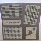 """I Love Archery a1""-Premade Scrapbook Page 12x12"
