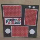"""Number 1 Kid t""-Premade Scrapbook Page 12x12"