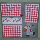"""Playball""-Premade Scrapbook Page 12x12"