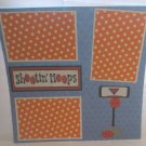 """Shooting Hoops Basket""-Premade Scrapbook Page 12x12"