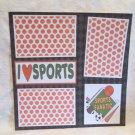 """Sports Fanatic""-Premade Scrapbook Page 12x12"