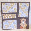 """Super Star""-Premade Scrapbook Page 12x12"
