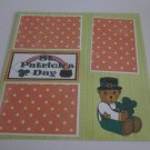 """St Patrick's Day Boy b""-Premade Scrapbook Page 12x12"