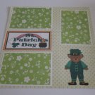 """St Patrick's Day Boy a""-Premade Scrapbook Page 12x12"