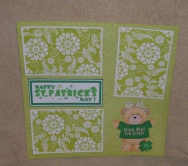 """Happy St Patrick's Day cs""-Premade Scrapbook Page 12x12"
