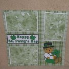 """Happy St Patty's Day Bear a""-Premade Scrapbook Page 12x12"