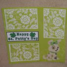 """Happy St Patty's Day Dog 2""-Premade Scrapbook Page 12x12"