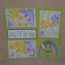 """Luck of The Irish Rainbow Girl""-Premade Scrapbook Page 12x12"