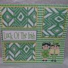 """Luck of The Irish""-Premade Scrapbook Page 12x12"