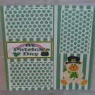 """St Patrick's Day Bear a""-Premade Scrapbook Page 12x12"