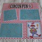 """Circus Fun a""-Premade Scrapbook Page 12x12"
