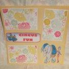 """Circus Fun""-Premade Scrapbook Page 12x12"