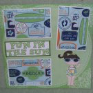 """Fun In The Sun Girl""-Premade Scrapbook Page 12x12"