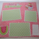 """Slice of Summer Girl 2 mme""-Premade Scrapbook Page 12x12"