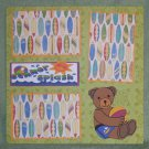 """Summer Splash Bear""-Premade Scrapbook Page 12x12"