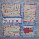"""Summer""-Premade Scrapbook Page 12x12"