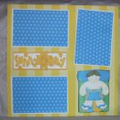 """""""Sunny Day Boy""""-Premade Scrapbook Page 12x12"""