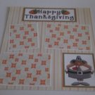 """Happy Thanksgiving a""-Premade Scrapbook Page 12x12"