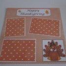 """Happy Thanksgiving c""-Premade Scrapbook Page 12x12"
