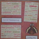 """""""Our First Thanksgiving""""-Premade Scrapbook Page 12x12"""