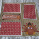 """Thanksgiving Dinner""-Premade Scrapbook Page 12x12"
