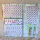 """Paradise""-Premade Scrapbook Page 12x12"