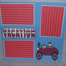 """Vacation Car""-Premade Scrapbook Page 12x12"