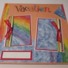 """Vacation cr""-Premade Scrapbook Page 12x12"