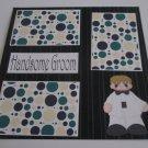 """Handsome Groom""-Premade Scrapbook Page 12x12"