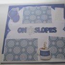 """On The Slopes 2""-Premade Scrapbook Page 12x12"