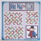 """Snow Folk Welcome Snowman""-Premade Scrapbook Page 12x12"