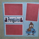 """I Love Penguins""-Premade Scrapbook Page 12x12"