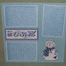 """Snow Bound""-Premade Scrapbook Page 12x12"