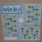 """Winter Days t""-Premade Scrapbook Page 12x12"