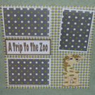 """A Trip To The Zoo 2""-Premade Scrapbook Page 12x12"