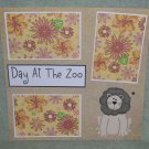 """Day At The Zoo 2""-Premade Scrapbook Page 12x12"