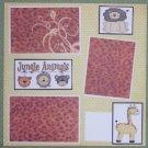 """Jungle Animals""-Premade Scrapbook Page 12x12"