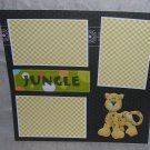 """Jungle nw""-Premade Scrapbook Page 12x12"
